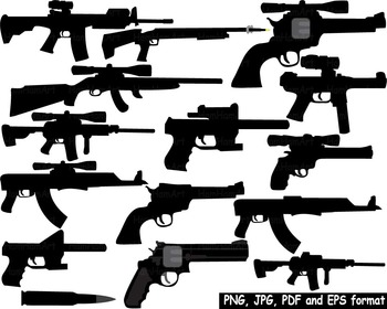 Hunting Gun toy Clip Art community heroes army gun toy police military black 150