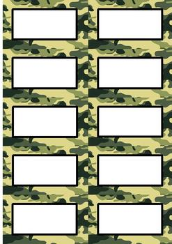 Hunting Theme Camo Tags