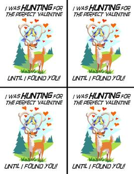 Hunting Theme Valentines Cards