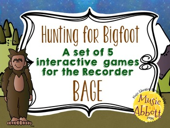 Hunting for Bigfoot, a collection of recorder games {BAGE}