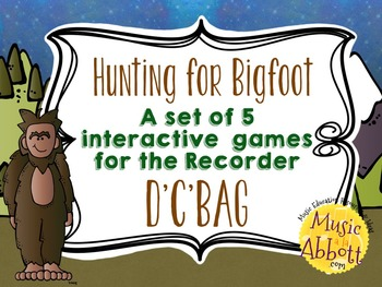 Hunting for Bigfoot, a collection of recorder games {D'C'BAG}