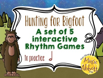 Hunting for Bigfoot, a collection of rhythm games {half note}