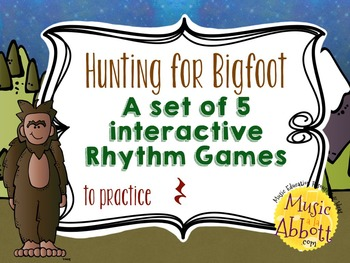 Hunting for Bigfoot, a collection of rhythm games {rest}