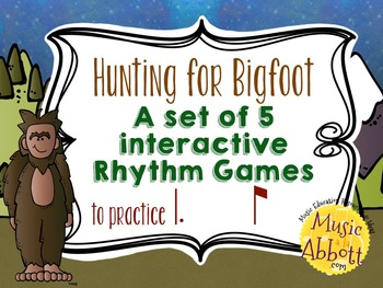 Hunting for Bigfoot, a collection of rhythm games {tam-ti/tom-ti}