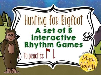 Hunting for Bigfoot, a collection of rhythm games {ti-tam/ti-tom}