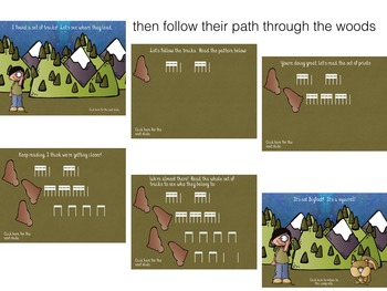 Hunting for Bigfoot, a collection of rhythm games {tika-tika/tiri-tiri}