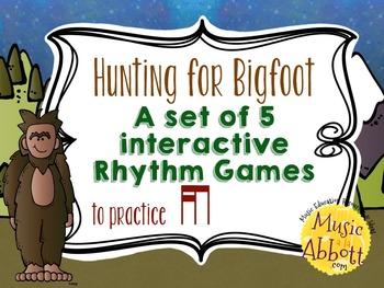 Hunting for Bigfoot, a collection of rhythm games {tika-ti