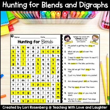 Word Searches {Blends and Digraphs}