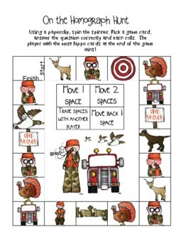 Hunting for Homographs-Vocabulary Games and Activities for Third Grade