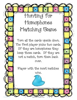Hunting for Homophones **FREEBIE**