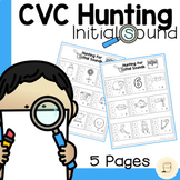Hunting for Initial CVC Sounds with Daubers - Free
