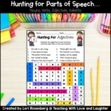 Word Searches {Nouns, Verbs, Adjectives, Adverbs} Distance Learning Packet