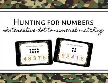 Hunting for Numbers ~ Digital, Interactive Dot-to-Numeral Matching