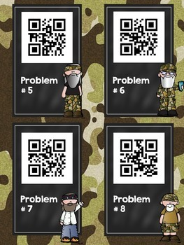 Hunting for Subtraction: a QR Code Math Game (two digit, no regrouping)
