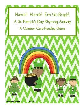 Hurrah!  Hurrah!  Erin Go Bragh!  A St. Patrick's Day Rhyming Activity