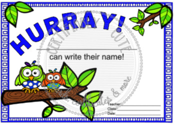 Hurray! __can write their name!