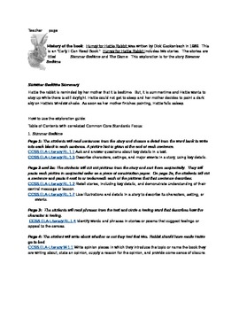 Hurray for Hattie Rabbit: Summer Bedtime Exploration Literature Packet