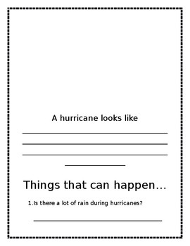 Hurrican Activity packet
