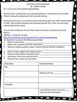 Hurricane Chromebook Activity