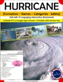 Hurricane- Formation - Names - Categories- Safety -Unit(as notes)with Worksheets