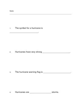 Hurricane Fill in the Blank