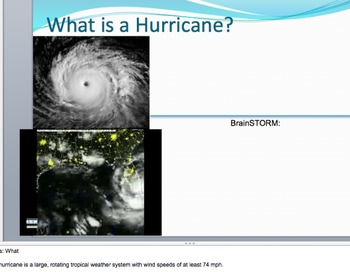 Hurricane Formation, Map Reading - Lesson Plan, Presentation, Activities