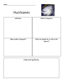 Hurricane Graphic Organizer