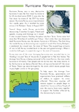 Hurricane Harvey Fact File Comprehension Question Cards