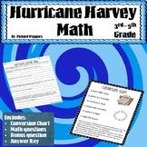 Hurricane Harvey Math Word Problems Grades 3-5