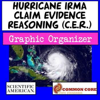 Hurricane Irma CER (Claim Evidence Reasoning) Graphic Organizer