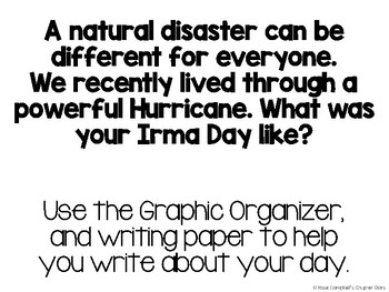 Hurricane Irma Writing Prompt