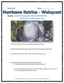 Hurricane Katrina - Webquest with Key (History.com)