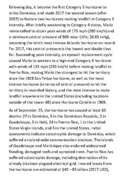 Hurricane Maria Handout