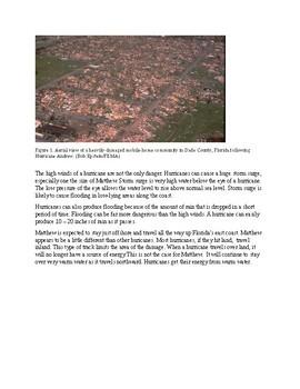 Hurricane Matthew (790L) - Science Information Text Reading Passage