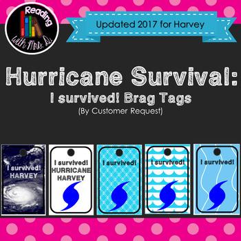 Hurricane Survival Brag Tags (Customer Request)