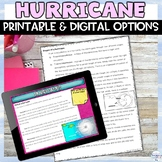 Hurricane Natural Disaster Nonfiction Article and Activity