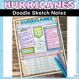 Hurricane Natural Disaster Wild Weather Sketch Note Activity