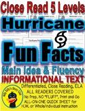 Hurricane Season & Fun Facts Close Reading Differentiated