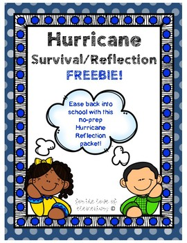 Hurricane Survival/Reflection Freebie