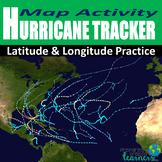Hurricane Tracker Latitude and Longitude Activity