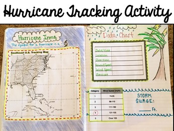 image about Printable Hurricane Tracking Map referred to as Hurricane Monitoring Worksheets Schooling Supplies TpT