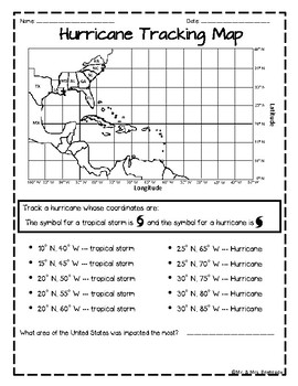 photo about Printable Hurricane Tracking Chart named Hurrican Monitor Worksheets Instruction Products TpT