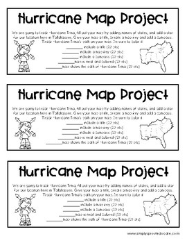Hurricane Tracking Map Project from Simply sprout