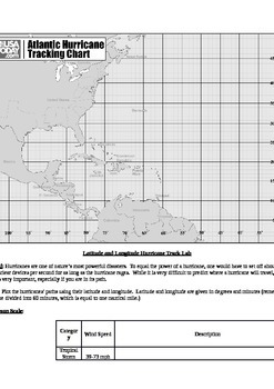 Hurricane Tracking Map and Lesson