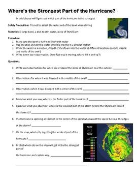 Hurricane and Tornado Lab: Natural Disasters