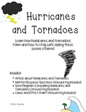 Hurricane and Tornado Reading Comprehension