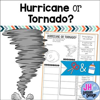 Hurricane or Tornado?  Cut and Paste Sorting Activity