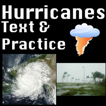 Hurricanes Activities & Worksheets Nonfiction Reading Comprehension No Prep