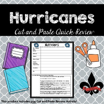 Hurricanes Cut and Paste Review--NO PREP