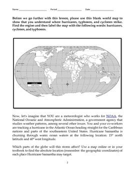 Hurricanes, Cyclones, and Typhoons Reading Assignment